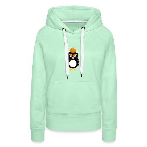 Pingouin Bowser - Sweat-shirt à capuche Premium pour femmes