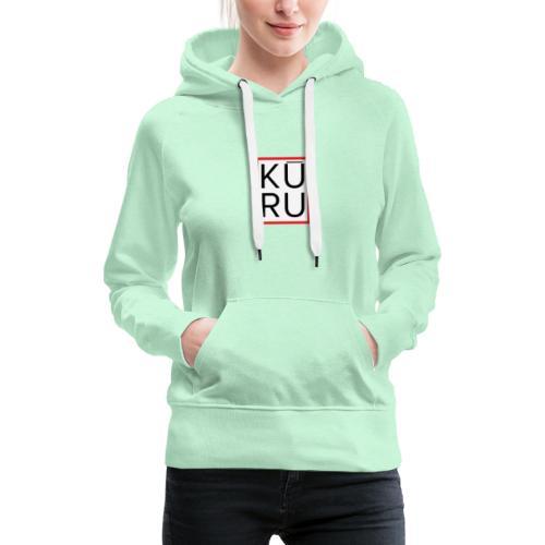 Logo Kuru - Sudadera con capucha premium para mujer