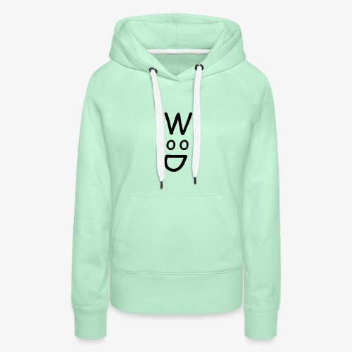 Wood Black - Sweat-shirt à capuche Premium pour femmes