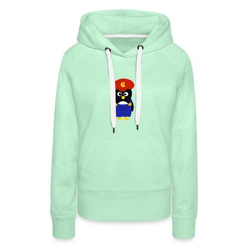 Pingouin Mario - Sweat-shirt à capuche Premium pour femmes