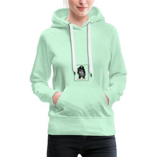 lhomme-singe - Sweat-shirt à capuche Premium pour femmes