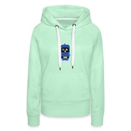 Pingouin Dynablaster - Sweat-shirt à capuche Premium pour femmes