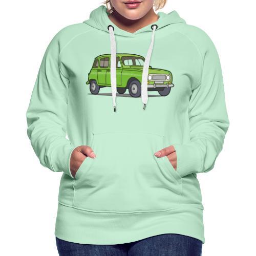 Grüner R4 (Auto) - Frauen Premium Hoodie