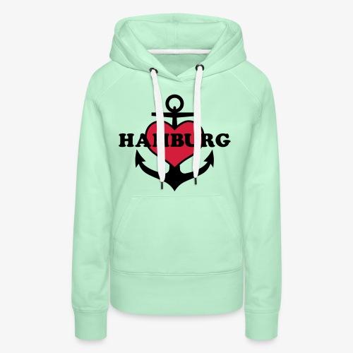 Anker Herz Hamburg Maritimes Motiv - Frauen Premium Hoodie