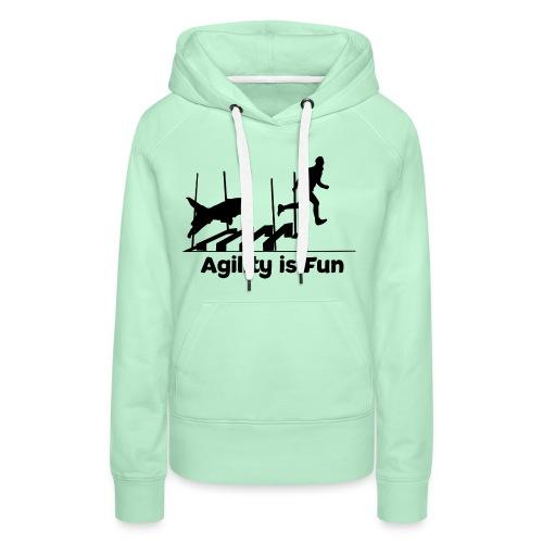 Hundesport Fun Agility - Frauen Premium Hoodie