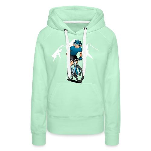 MTB - Mountain biker in the mountains - Women's Premium Hoodie