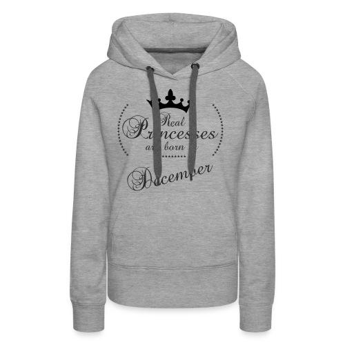 Real Princesses black December - Frauen Premium Hoodie