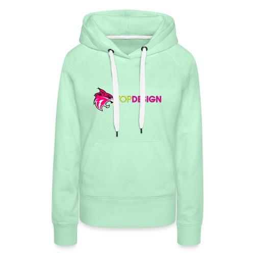 YopDesign-Ytub - Sweat-shirt à capuche Premium pour femmes