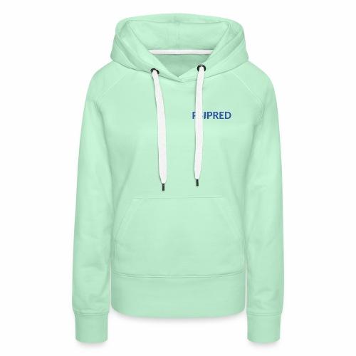 Logo in blue - Women's Premium Hoodie