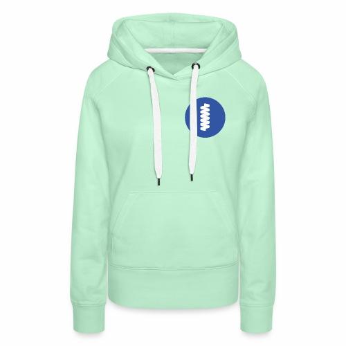logomark in circular blue - Women's Premium Hoodie
