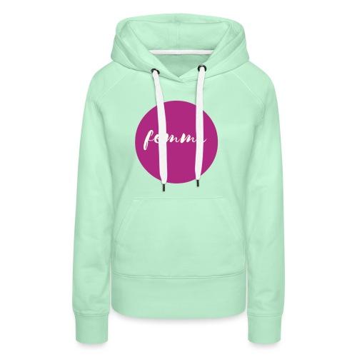 FEMME Logo Pink - Frauen Premium Hoodie