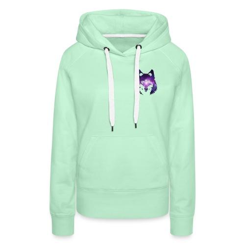 Galaxy wolf - Sweat-shirt à capuche Premium pour femmes