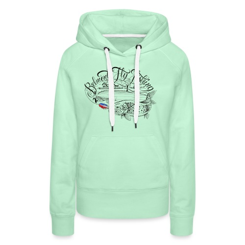 belmont fly fishing - Sweat-shirt à capuche Premium pour femmes