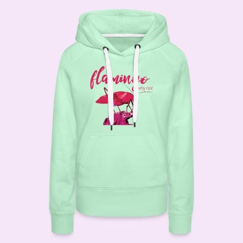Wannabe Flamingo Sprinkhaan HOT PINK BABY - Vrouwen Premium hoodie