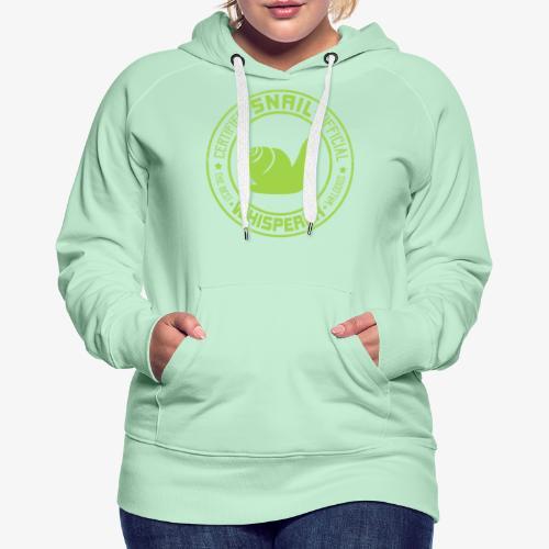Snail Whisperer Green - Naisten premium-huppari
