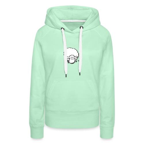 Moutons - Sweat-shirt à capuche Premium pour femmes