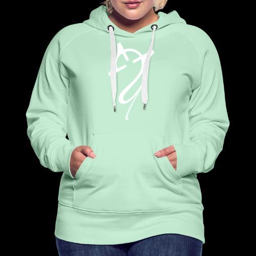 Overscoped logo White - Women's Premium Hoodie