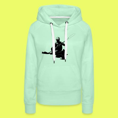 Mann_Kajak_black_Front - Frauen Premium Hoodie