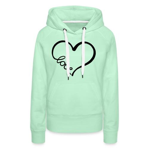 love heart 2 - Women's Premium Hoodie