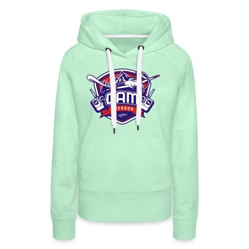gam yverdon logo cmjnpage001 - Sweat-shirt à capuche Premium pour femmes