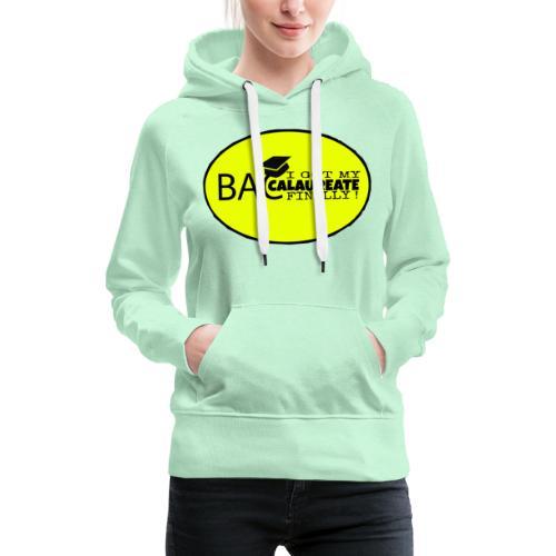 Baccalaureate Design - Sweat-shirt à capuche Premium pour femmes