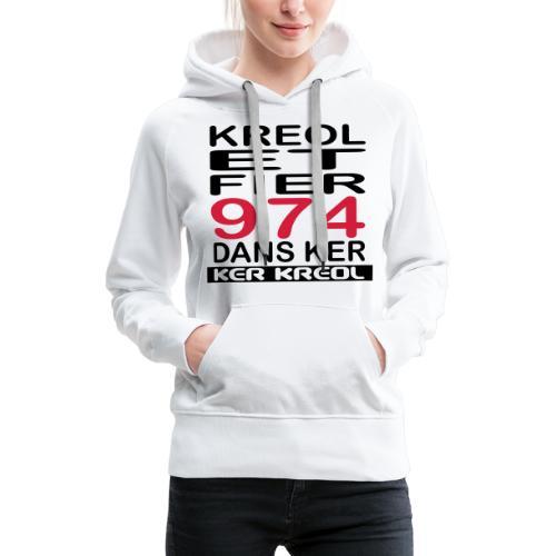 fier et kreol hom 02 ti - Sweat-shirt à capuche Premium pour femmes