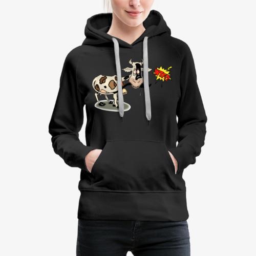 Vaquita - Sudadera con capucha premium para mujer
