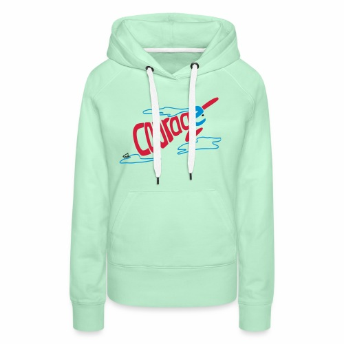 Courage superhero eco / fairtrade - Women's Premium Hoodie