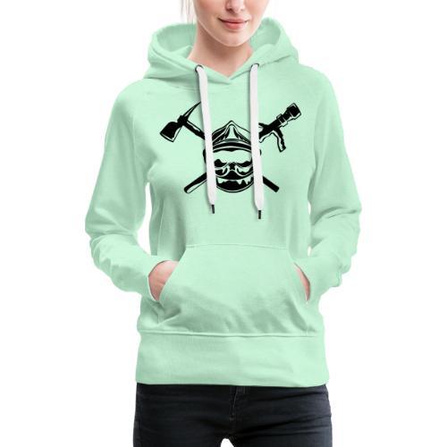 casque_pompier_hache et lance - Sweat-shirt à capuche Premium pour femmes