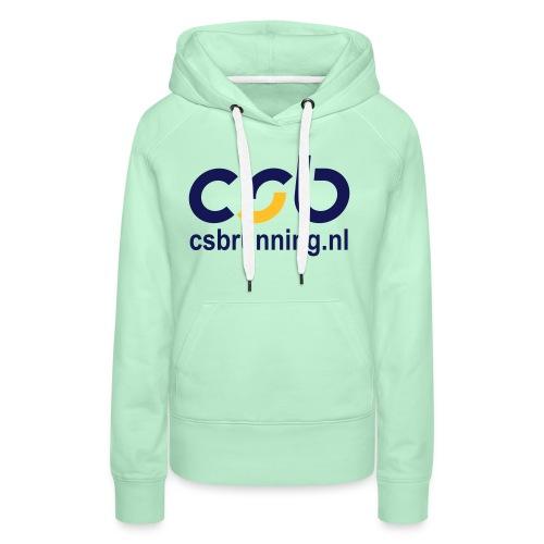 logo csb nieuw 2017 csbrunning - Vrouwen Premium hoodie
