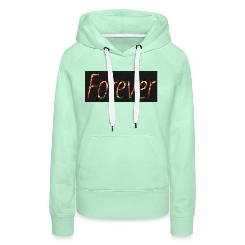Forever Clothing Black Flowers T-shirt Men - Vrouwen Premium hoodie