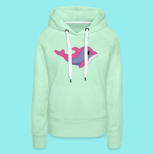 Dauphin - Sweat-shirt à capuche Premium pour femmes
