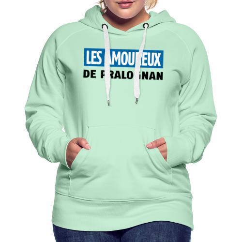 les amoureux de pralognan texte - Sweat-shirt à capuche Premium pour femmes
