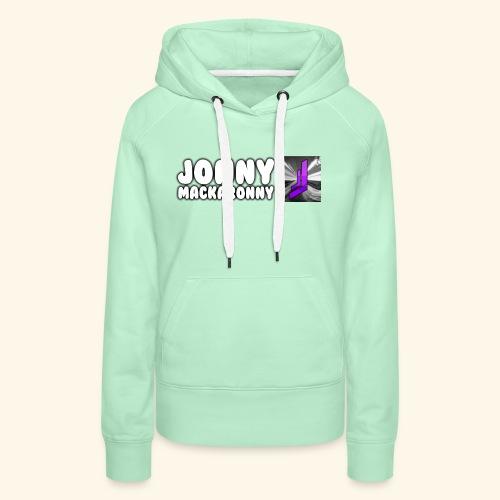 JonnyMackaronny Tekst med Logo - Premium hettegenser for kvinner