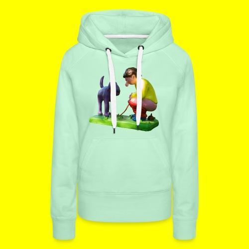 Mannetje Poep vrijstaand - Vrouwen Premium hoodie
