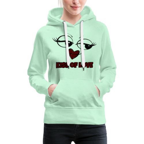 Kiss of Love - Sweat-shirt à capuche Premium pour femmes