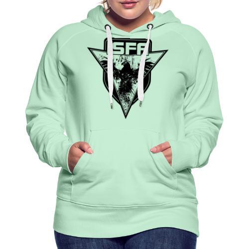 isfa logo 1c schwarz - Frauen Premium Hoodie