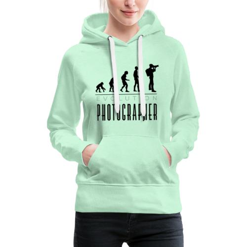 Evolution photographer - Frauen Premium Hoodie