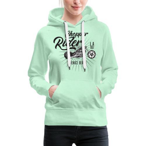 chopper rider - Sweat-shirt à capuche Premium pour femmes