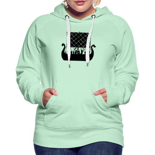 LongShip - Vikings - Sweat-shirt à capuche Premium pour femmes