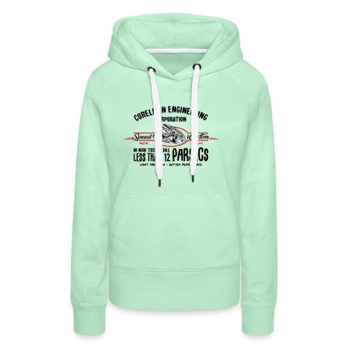 parsecs - Sweat-shirt à capuche Premium pour femmes