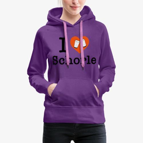 I love Schorle – Dubbeglas - Frauen Premium Hoodie