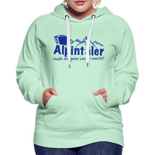 Logo dunkelblau spruch - Frauen Premium Hoodie