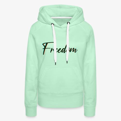 freedom - Felpa con cappuccio premium da donna