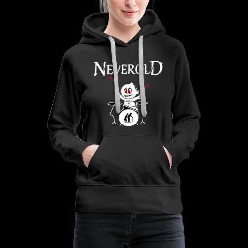 LOGO NEVEROLD - Sweat-shirt à capuche Premium pour femmes