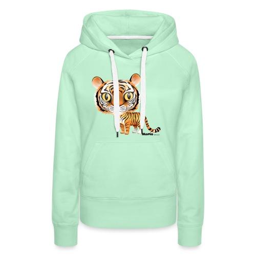 Tygrys - Bluza damska Premium z kapturem