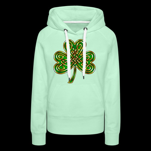 Celtic Knotwork Shamrock - Women's Premium Hoodie