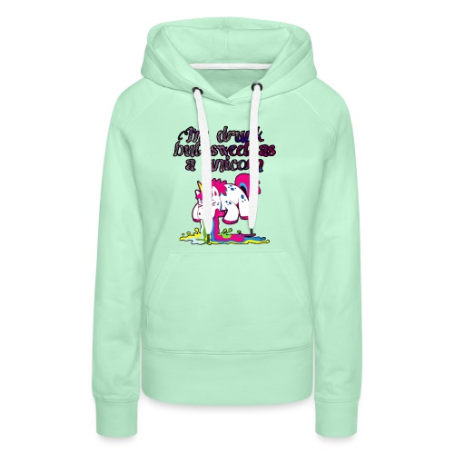 Sweet drunken unicorn - Frauen Premium Hoodie
