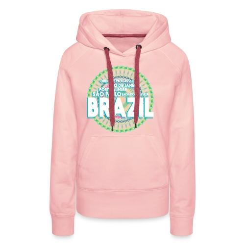 Lemon Brazil Mandala - Sweat-shirt à capuche Premium pour femmes