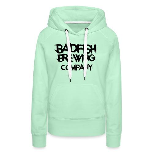 BadFish + Logo - Sweat-shirt à capuche Premium pour femmes
